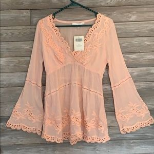 A never worn Boston Proper peach shirt